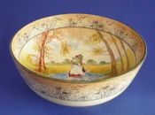 Rare Royal Doulton 'Bluebell Gatherers' Large Bowl D3812 c1915
